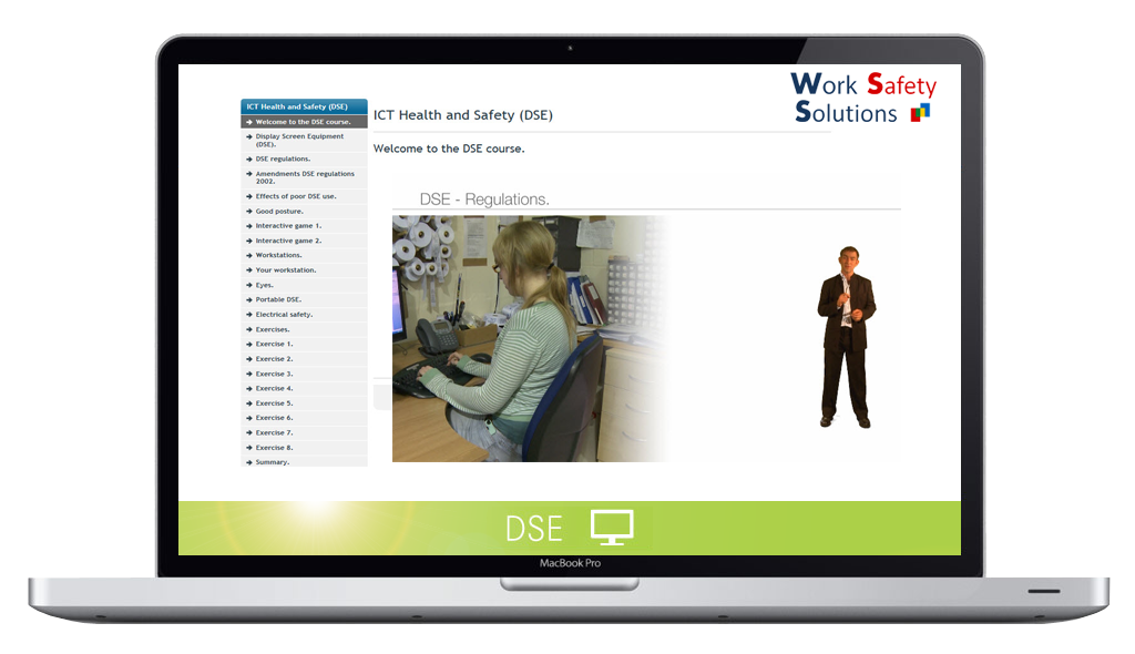 work safety solutions DSE screenshot