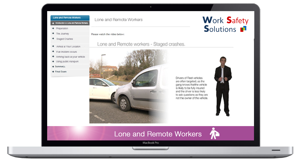 work safety solutions Lone and remote worker SCREEN SHOT