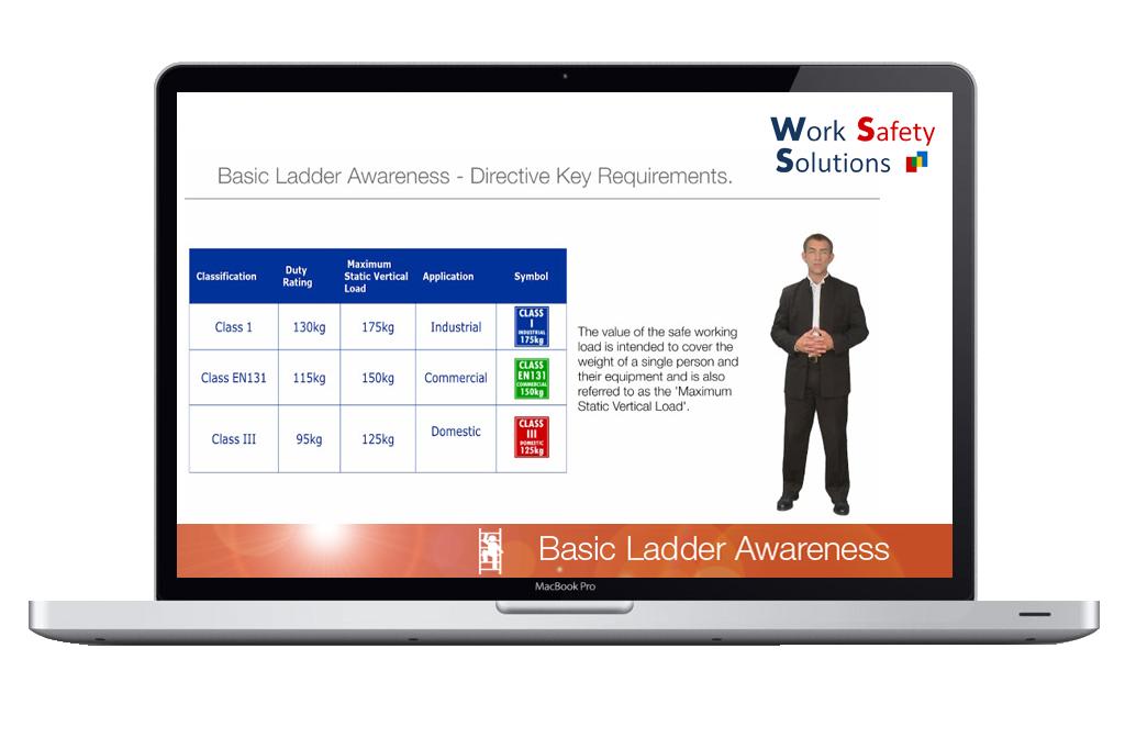 work safety solutions basic ladder awareness screen